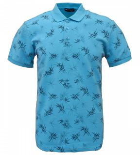 Tricou Polo Barbati Regular Fit Tony Montana- Floral -albastru