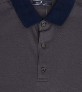 Tricou Polo Regular fit- gri/bleumarin