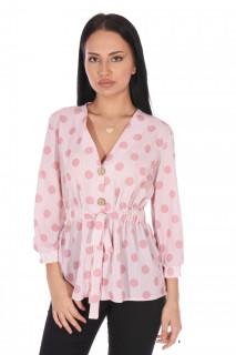 Camasa dama eleganta cu buline - roz-