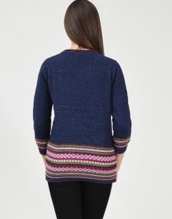 Pulover bleumarin tricotat