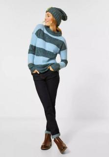 Pulover cu dungi din tricot flexibil
