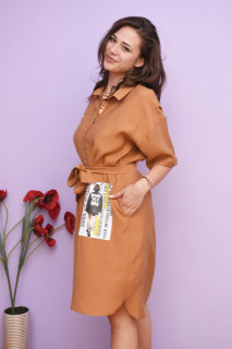 Rochie dama midi stil camasa Kara