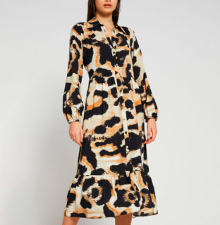 Rochie midi eleganta cu imprimeu de leopard