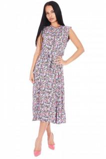 Rochie midi eleganta cu imprimeu floral Martha-E