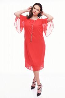 Rochie midi eleganta din voal cu maneci vaporoase Joselyn