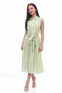 Rochie midi tip camasa -verde lime-