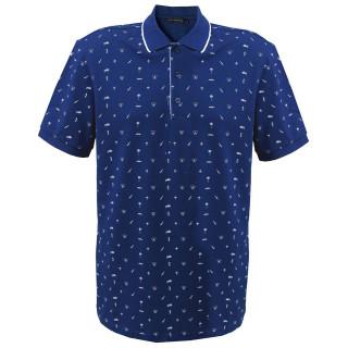 Tricou Bleumarin cu imprimeu Polo Tony Montana