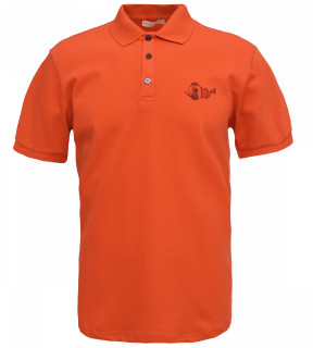 Tricou Polo Barbati Slim Fit Tony Montana -portocaliu
