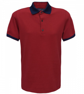 Tricou Polo Regular fit- grena/bleumarin