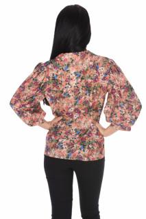 Camasa dama eleganta cu imprimeu floral- corai-