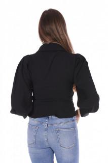 Camasa eleganta cu maneci bufante-negru-