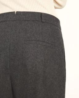 Pantaloni dama casual din lana