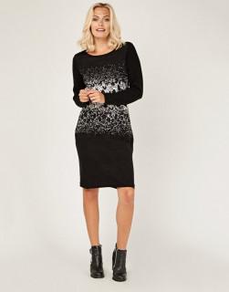 Rochie midi din tricot cu buzunare