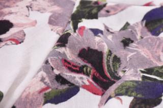 Rochie midi eleganta cu imprimeu floral si volane