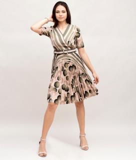 Rochie plisata cu buline