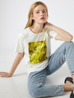 """Tricou dama casual cu imprimeu """"Yellow """""""