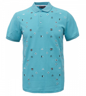 Tricou Polo Barbati Regular Fit Tony Montana- Sea Club-albastru