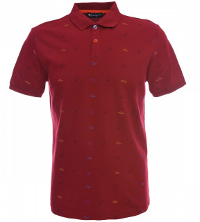 Tricou Polo Barbati Regular fit Tony Montana - Shark-rosu