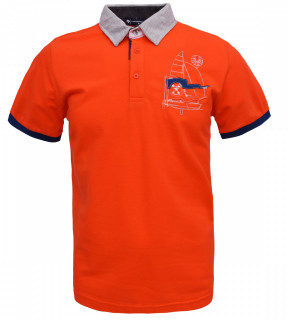 Tricou Polo Barbati Regular Tony Montana Sail- portocaliu