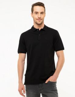 Tricou Polo Negru PIERRE CARDIN