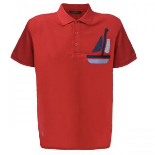 Tricou Rosu Polo Tony Montana