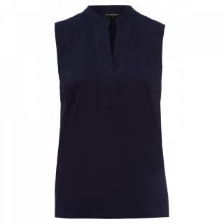 Bluza casual fara maneci stil tunica - bleumarin