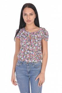 Bluza din vascoza cu imprimeu floral Petite -roz-
