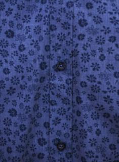 Camasa barbati cu imprimeu floral- bleumarin-
