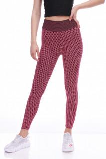 Colanti fitness cu talie inalta si efect modelator Britney--roz-