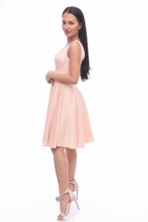 Rochie midi eleganta in clos roz prafuit