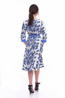 Rochie midi eleganta Peacock - albastru
