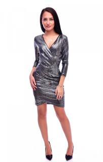 Rochie mini eleganta cu paiete - negru