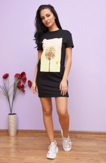 Rochie tip tricou cu imprimeu