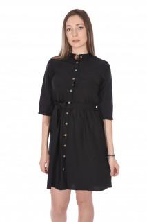 Rochie tunica cu cordon- negru-