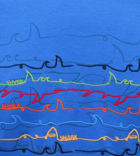 Tricou Barbati Regular Fit Tony Montana- Shark -albastru