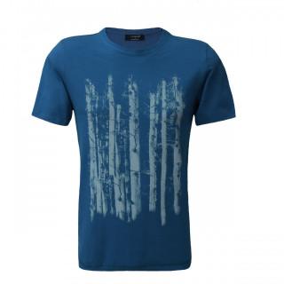 Tricou Casual Albastru cu imprimeu La Pante