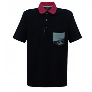 Tricou Negru Polo Paul & Shark