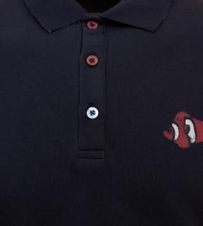 Tricou Polo Barbati Regular Fit Tony Montana -bleumarin