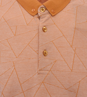 Tricou Polo Barbati Regular Fit Tony Montana- Geometric -mustar