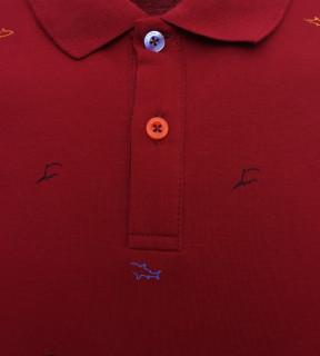 Tricou Polo Barbati Regular fit Tony Montana - Shark-rosu