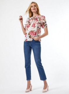Bluza cu volane si imprimeu floral