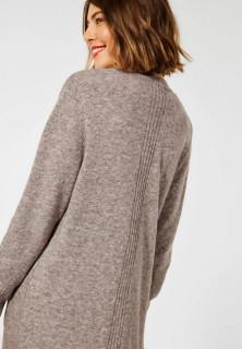 Cardigan din tricot gros cu buzunare - bej- E
