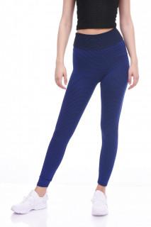 Colanti fitness cu talie inalta si efect modelator Britney--albastru--