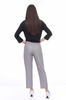 Pantaloni casual in carouri -E-