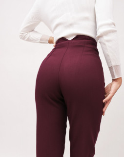 Pantaloni cu talie inalta chino