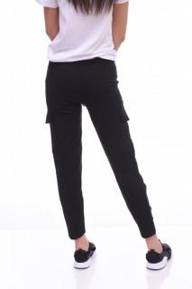Pantaloni dama sport cargo - negru -