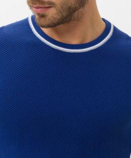 Pulover albastru cu guler rotund BRAX