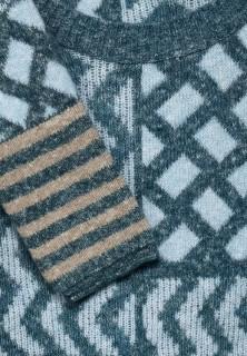 Pulover cu imprimeu din amestec moale