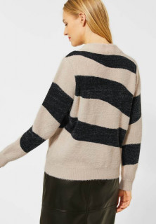 Pulover dama pufos zebra print