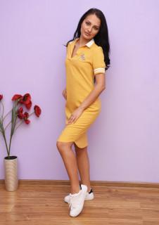 Rochie dama mini casual cu accesoriu - Bella - mustar